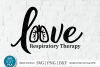Respiratory therapist svg, RT svg, breath svg, sublimation example image 1