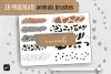 PROCREATE Animal Pattern Brushes   Wild Animals Footprint example image 1