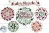 Winter Mandala SVG Bundle | Christmas Mandala SVG Cut Files example image 1