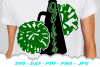 Cheerleader Cheer Megaphone Poms SVG DXF Cut Files Bundle example image 5