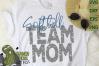 Softball Mom & Bonus Team Mom Sports SVG Cut File example image 3