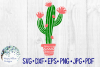 Floral Blooming Cactus | Summer SVG Cut File example image 2