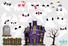 Spooky Ghosts Clipart, Instant Download Vector Art example image 2