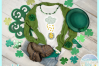Lucky Horseshoe May Your Luck Be Ever Overflowing Quote SVG example image 2