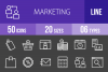 50 Marketing Line Inverted Icons example image 1