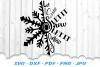 Christmas Let It Snow Snowflake SVG DXF Cut Files example image 2