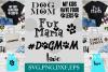 dog mom, fur baby, paw prints, pet mom, fur mama example image 1