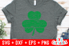 Distressed Shamrock | St. Patrick's Day Cut File example image 2