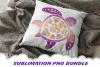 Valentine Mandala Turtle Glitter Sublimation PNG Bundle example image 4