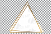 Elegant wedding geometric golden frames, lineal frames svg example image 10