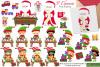 Christmas clipart bundle, Santa clipart, Elf clipart -C42 example image 2