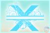 Plumeria Scrollwork Split Letter X SVG Dxf Eps Png PDF files example image 3
