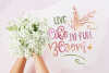 Blossomy - Font Duo Floral Doodles example image 5