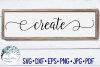 Create | Wood Sign SVG Cut File example image 1
