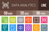 50 Data Analytics Line Multicolor B/G Icons example image 1