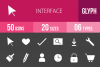 50 Interface Glyph Inverted Icons example image 1
