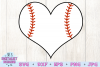 Baseball Heart SVG example image 2
