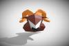 RAM DIY Paper Sculpture Animal head Trophy example image 3