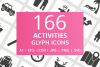 166 Activities Glyph Icons example image 1