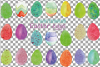 Watercolor Easter eggs colorful clip art pack example image 3