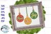 Peace Love Joy Mandala SVG | Christmas Ornament SVG Bundle example image 1