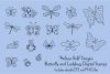 Butterfly, Ladybug & Dragonfly Digital Stamps Clipart example image 1