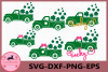 Truck Svg, Clover Svg, Lucky, Truck Shamrock SVG example image 1