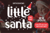 Little Santa Font | merry christmas font | 8 christmas cards example image 1