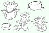 Cute Dragons Digital Stamps example image 4
