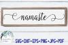Namaste | Yoga Sign SVG Cut File example image 1