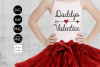 Daddys Valentine SVG File example image 1
