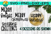 Holiday Christmas Ornament Bundle - FOUR designs included example image 1
