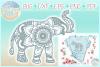 Elephant Mandala Svg Dxf Eps Png Pdf Files For Cricut example image 1