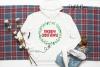 Merry Christmas, wreath monogram frame example image 2