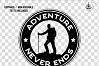 Retro Adventure Badge, Camp Vector Logo Label SVG Cut File example image 2
