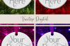 Round Christmas Ornament Mockup, Bauble Mock- Up, JPG example image 14