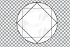 Geometric lineal black frames decor clip art. Wedding border example image 26
