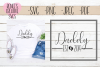 Daddy Est 2019   New parents   SVG Cut File example image 1