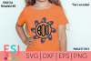 Halloween SVG | Witch Hat Monogram Frame Design example image 1
