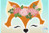 Fox Face with Roses Svg Dxf Eps Png Pdf Files example image 3