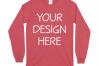 Gildan 5400 Long Sleeve Tshirt Mockups-16 example image 12