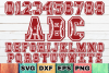 Baseball & Softball Letters. Full A-Z Alphabet & Numbers SVG example image 1