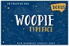 Woopie: a hand-lettered font example image 1