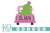 Merry Christmas Tree - Girls Christmas Vintage Truck SVG example image 2