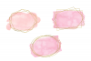 Pink and gold frames clip art, Watercolor design elements example image 5