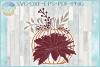 Pumpkin with Leaves Berries Mum SVG example image 1