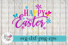 Happy Easter Flowers Spring SVG Cutting Files example image 1