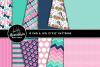 Posh Puppy Clipart Graphics & Digital Paper Patterns Bundle example image 2