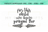 For This Child We Have Prayed For Christian Baby SVG example image 1