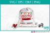 Santa Paws, SVG, Christmas, PNG, Cricut, Silhouette example image 1